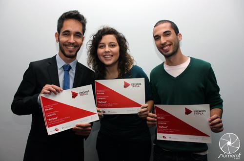 Tiago Simões, Bruna Pereira e André Figueiredo