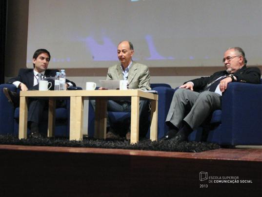Sessão Inaugural (da esq. para a dir.: André Pardal, Jorge Veríssimo e Vítor Gonçalves)