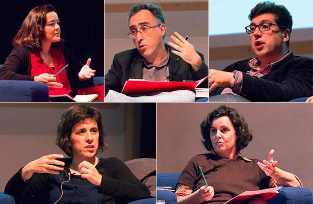A Prof.ª Doutora Fernanda Bonacho moderou um painel de quatro jornalistas.