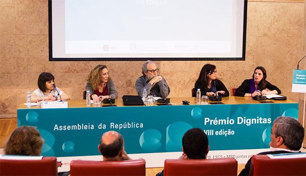 Da esq. para a dir.: Ana Sezudo, Naíde Müller, Jorge Falcato, Sónia Colaço e Diana Ferreira.