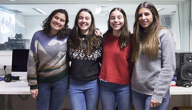 Da esq. para a dir.: Ana Ballesteros, Elisabeth García, Violeta Peraita e Claudia Ballester.